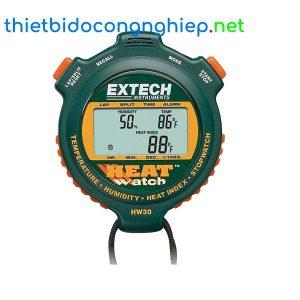Đồng hồ bấm giờ hiển thị nhiệt độ, độ ẩm Extech HW30