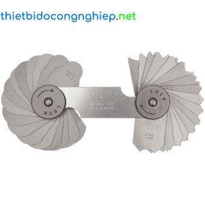 Bộ dưỡng đo bán kính Mitutoyo 186-102 ( 17/64inch – 1/2, 16 lá)