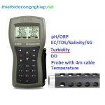 Máy đo pH/ISE/EC/DO/độ đục chống thấm nước có GPS Hanna HI9829